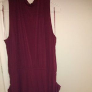 USED Plus Size High-Neck Jumpsuit